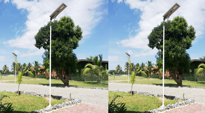 integrated all in one solar street lights