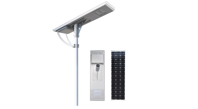 Integrated solar street light 80W