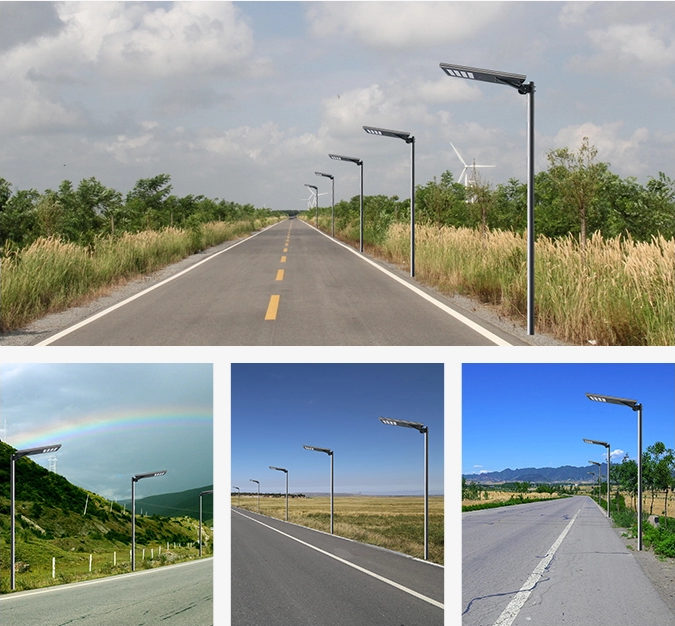 integrated solar street light installation