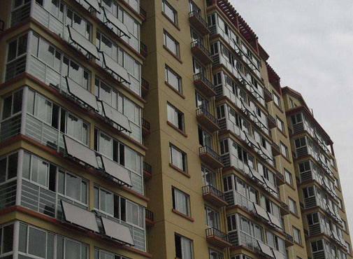 Solar Water Heating apartment