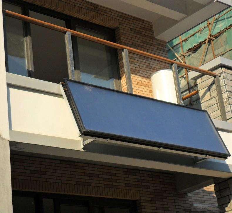 solar collector on balcony