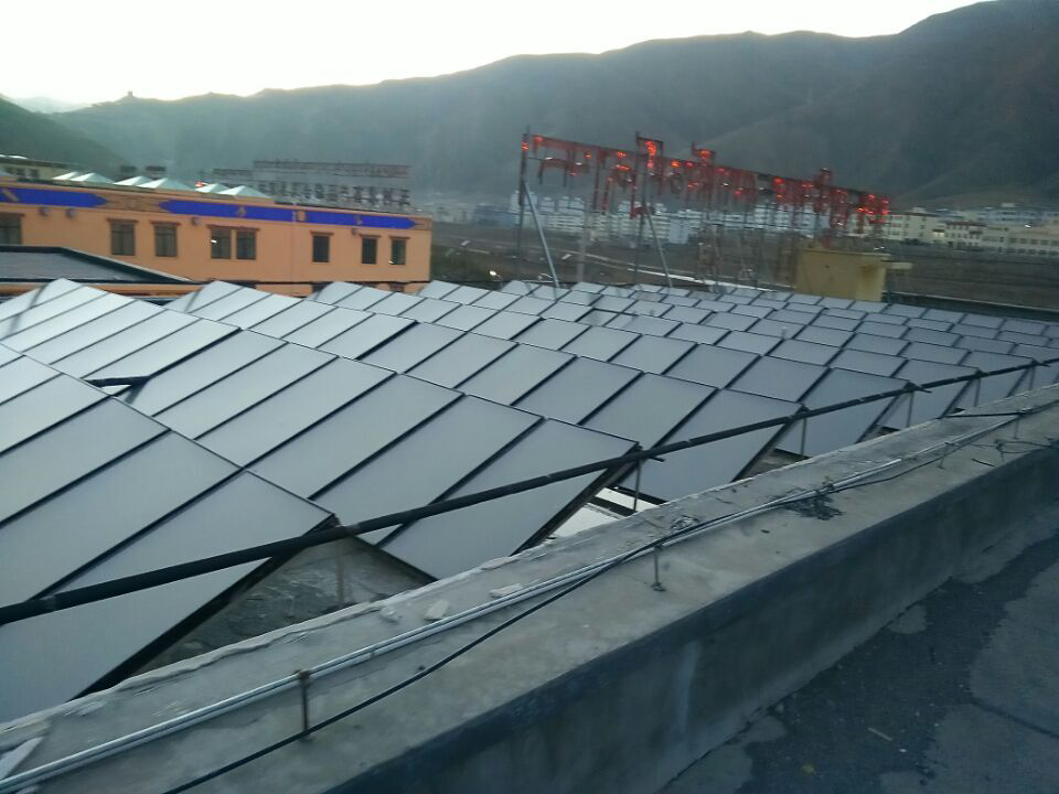 solar flat plate heating project
