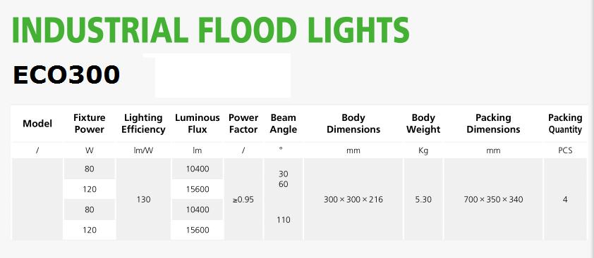 Industrial wall flood light eco300