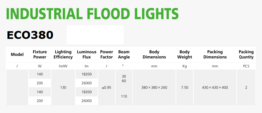 led flood light high power