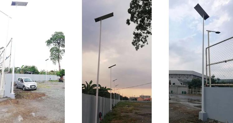 solar lights install