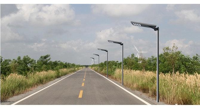 all in one solar street light 120w installation