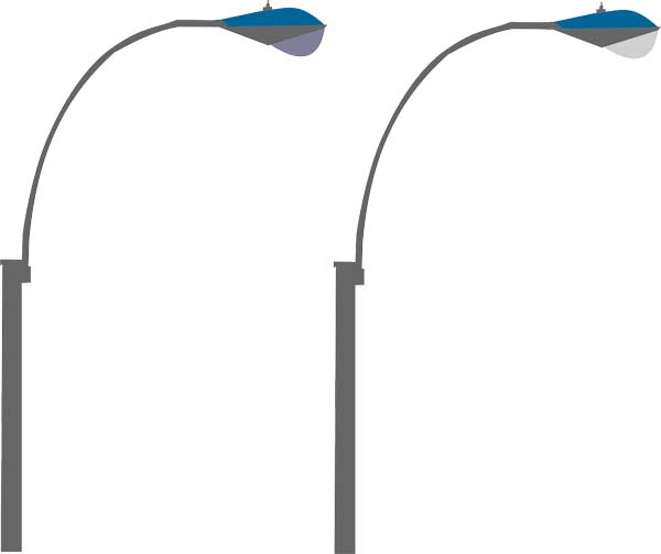 led street light poles