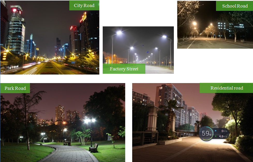 LED street lamps installed